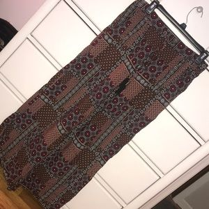 Flowy patterned pants with tie!